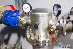 Монтаж фильтра на предварительной ступени тонкой механической очистки