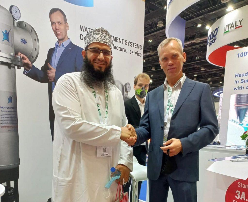 Промышленные фильтры НЕПТУН в ОАЭ на выставке представлены
